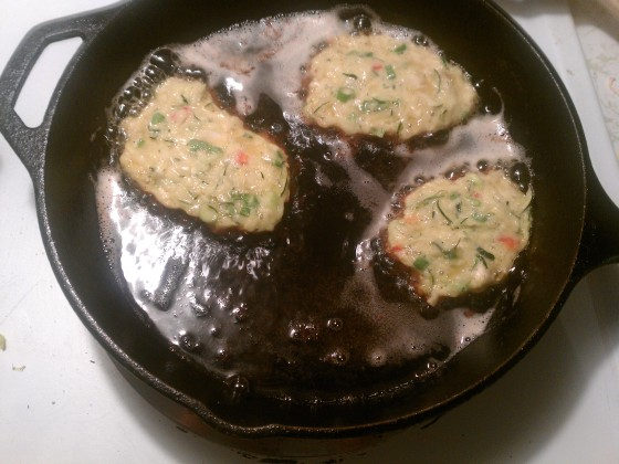 Zucchini Fritters, side one.