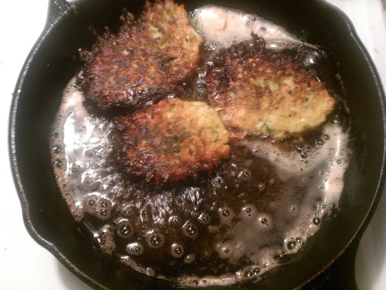 Zucchini Fritters, side two.